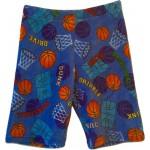 Basketball Shootout Long Boys Pajama Shorts Image