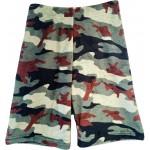 Green Camouflage Long Boys Pajama Shorts Image
