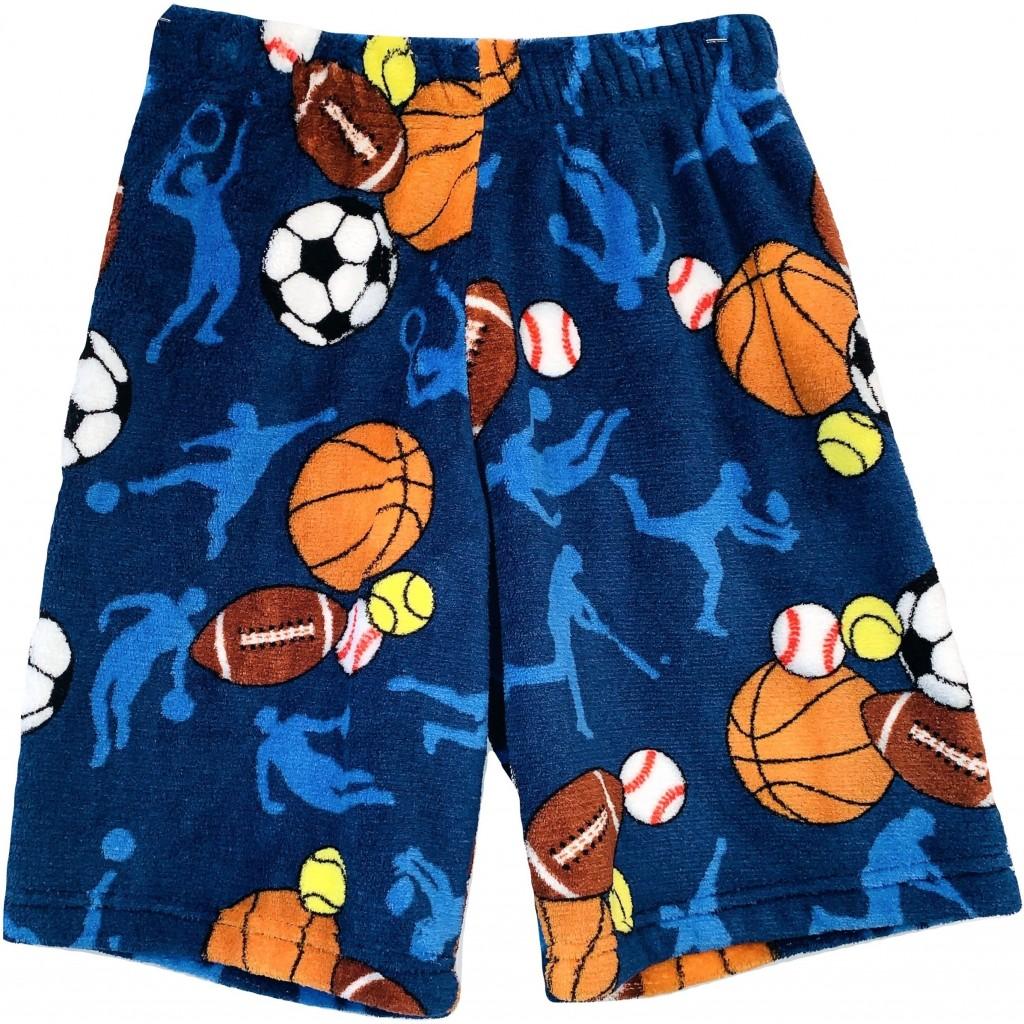 Sports Frenzy Long Boys Pajama Shorts