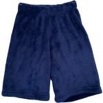 Solid Navy Long Boys Pajama Shorts Image