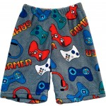 Grey Gamer Long Boys Pajama Shorts Image