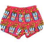 Fuchsia Emoji Popcorn Pajama Shorts Image