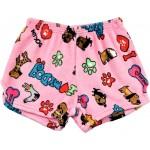 I Love My Dog Pajama Shorts Image