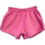 Solid Pink Pajama Shorts Image