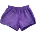 Solid Purple Pajama Shorts Image