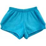 Solid Turquoise Pajama Shorts Image