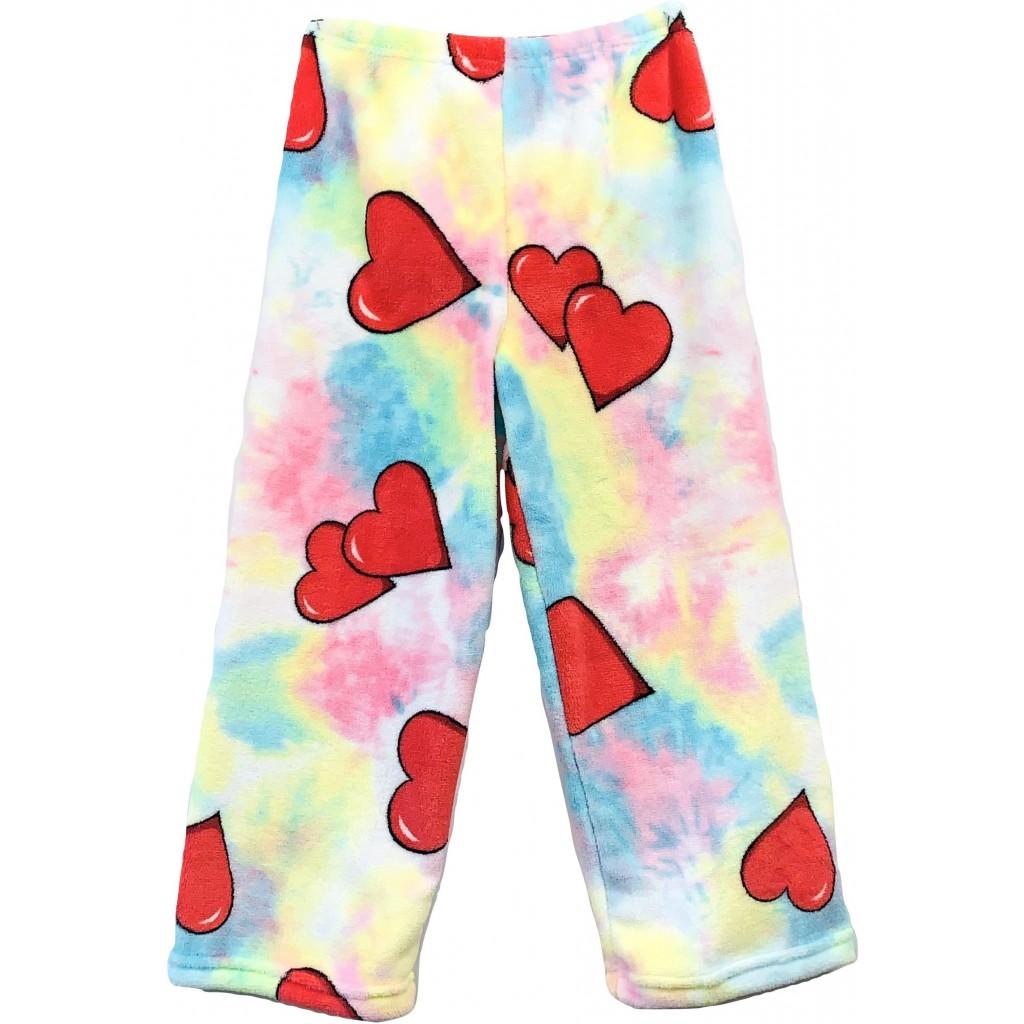 Tie Dye Hearts Pajama Pants