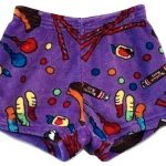 Lavender Candy Pajama Shorts Image