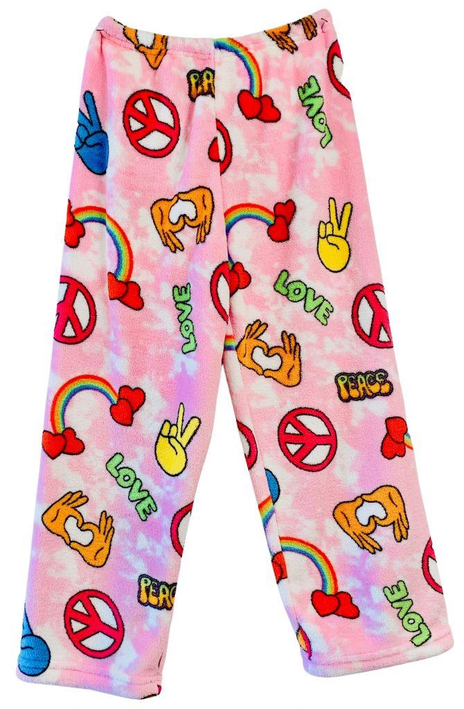 Light Pink Peace & Love Pajama Pants