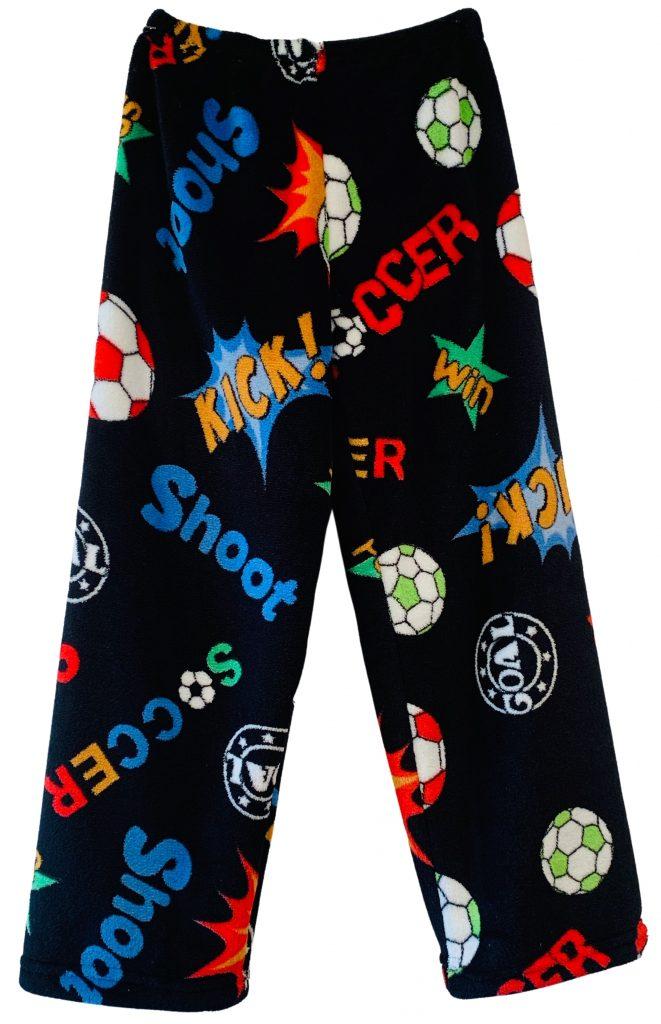 Black Soccer Shootout Pajama Pants