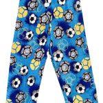 Blue Soccer Pajama Pants Image