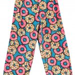 Turquoise Sprinkled Donuts Pajama Pants Image